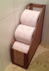 magazine holder for toilet paper